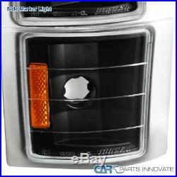 For 94-98 C10 C/K 1500 Tahoe Black Projector Headlights+Bumper+Corner Lamps