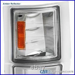 For 94-98 C10 C/K 2500 3500 Tahoe Suburban Headlights+Bumper Corner Lamps Clear