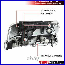 For 99-02 Chevy Silverado 00-06 Tahoe Suburban LED Bar Headlights+Bumper Lamps