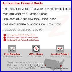 For 99-02 Chevy Silverado 1500 2500HD 3500HD SMOKED BLACK LED Tail Brake Light