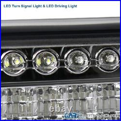 For 99-02 Silverado 00-06 Suburban Tahoe Headlights+LED Bumper Turn Signal Lamps