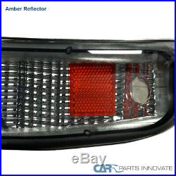 For 99-02 Silverado 00-06 Suburban Tahoe Smoke Headlights+Bumper Signal Lamps