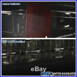For 99-02 Silverado 00-06 Tahoe Smoke LED Projector Headlights+LED Bumper Lamps