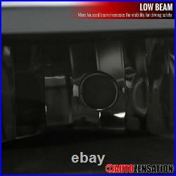 For 99-02 Silverado 00-06 Tahoe Suburban LED Bar Black Smoke Headlights+Bumper