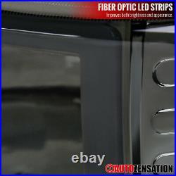 For 99-02 Silverado 00-06 Tahoe Suburban LED Bar Smoke Headlights+Bumper Lamps