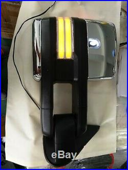 For 99-06 Silverado Sierra Chrome Manual Adjust Towing mirror WithLED Turn Signal