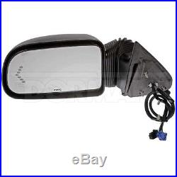 For GMC Front Driver Left Power Camper Mirror Left with Integral Turn Signal