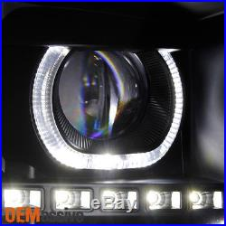 GAZE 2007-2013 Chevy Silverado GEN VI Halo SMD LED Black Projector Headlights