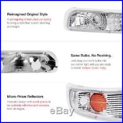 Halo Projector Clear Headlight+Amber Bumper Parking Lamp 99-2002 Chevy Silverado