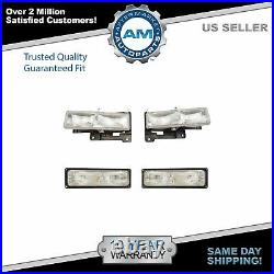 Headlights & Parking Signal Light Set Kit for 94-98 Chevy/GMC C1500 K1500 Truck