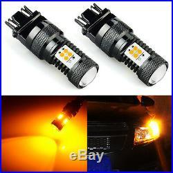 JDM ASTAR 2pc Super Bright 3157 3156 Amber 3030 SMD LED Turn Signal Lights Bulbs