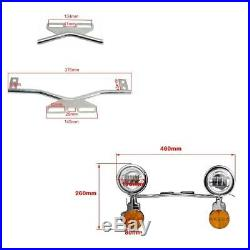 LED Passing Turn Signal Light Bar For Yamaha Road Star XV 1600 1700 Silverado