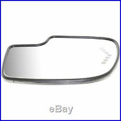 Mirror Glass Driver Side with Turn Signal Light For 03-2007 Silverado / GMC Sierra