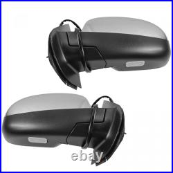 Mirror Power Folding Heated 11 Dot LED Turn Signal Pair Set of 2 for GM New