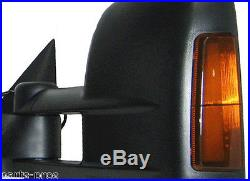 NEW Manual Towing Mirror with Turn Signal PAIR / FOR SILVERADO & SIERRA