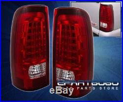 New! 2003-2006 Chevy Silverado 1500/2500 Hd Led Tail Lights Rear Lamps Red Lens