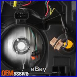 New Body Style For 2014-15 Chvey Silverado 1500 Black Headlights with Chrome Trim