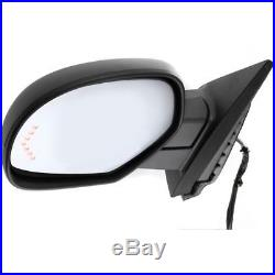 New Mirror Driver Left Side Chevy Yukon Heated In-glass Turn Signal Light LH