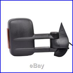 New Set of 2 Power Heated Mirror with Turn Signal for Chevy Silverado 1500 07-2013