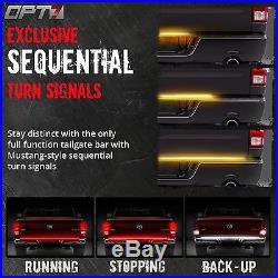 OPT7 Redline 60 TRIPLE LED Tailgate Light Bar Sequential Turn Signal Brake Rear