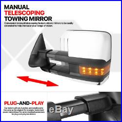 PairChrome Power+Heated LED Signal Towing Mirror for 03-07 Silverado/Avalanche