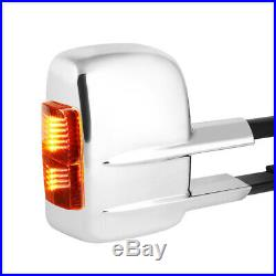 PairChrome Power+Heated LED Signal Towing Side Mirror for 03-07 Suburban/Yukon