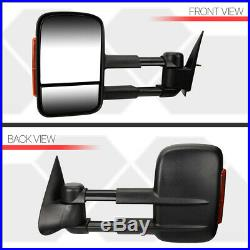 PairManual Extendable LED Signal Towing Side Mirror for 99-07 Silverado/Sierra