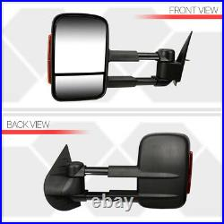Pair Manual Extendable LED Signal Towing Side Mirror for 07-14 Suburban/Yukon