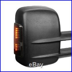 Pair Power+Heated LED Signal Towing Side Mirror for 03-07 Tahoe/Sierra/Yukon