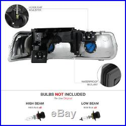Pair Smoke Headlamps Bumper Black Tail Lights 1999-2002 Silverado DuraMax 6.6L
