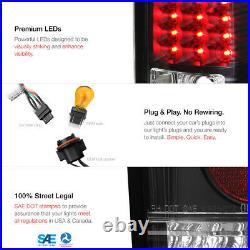 Parking Headlights Black Tail Lamps Dark Smoke Fog 99-02 Silverado DuraMax 6.6L