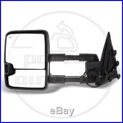 Power Heated Smoke LED Turn Signals LH&RH For 14-18 Silverado Sierra Tow Mirrors