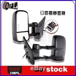 Power Heated Turn Signal Tow Mirrors For 07-14 Silverado Sierra 2500 3500HD Pair