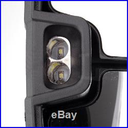 Power LED Turn Signal Towing For 1999-02 Chevy GMC Side View Mirrors Pair