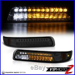 Projector Smoke Headlights LED Parking Black Tail Lamps 99 00 01 02 Silverado V6