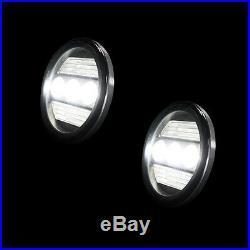 RECON GMC SIERRA & CHEVY SILVERADO LED FOG LIGHTS with TURN SIGNALS PART# 264521BK