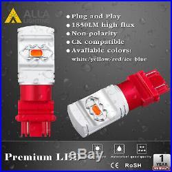 RED LED Brake/Tail/Turn Signal Light Bulb For 88-98 Chevrolet C1500, Set of 4
