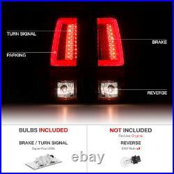 ROSSO BURGUNDY FiBer Optic LED SMD Rear Tail Light For 03-06 Chevy Silverado