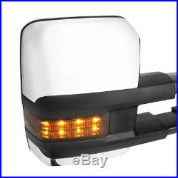 R Passenger Chrome Power+Heated LED Signal Towing Mirror for 03-07 Silverado