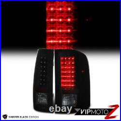 SINISTER BLACK For 07-14 Chevy Silverado GMT Black Smoke LED Tail Lights Lamps