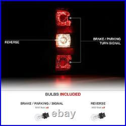 SINISTER RED Dark Smoke Rear Brake Tail Light Assembly 07-13 Chevy Silverado