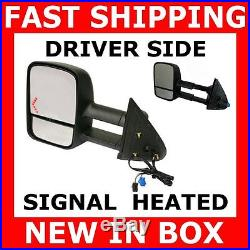 Save New Mirror 03-06 Gmc Chevy Truck Driver Left Tow Turn Signal Power Heated
