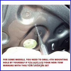 Silverado 14-18 Pickup Truck Black Power+Heated+LED Turn Signal Towing Mirrors