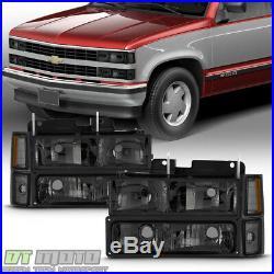 Smoke 1994-1998 Chevy Silverado C10 C/K Tahoe Suburban Headlights +Corner+Bumper