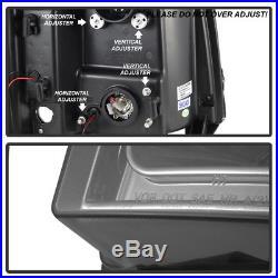 Smoke 2007-2013 Chevy Silverado 1500 2500 3500 LED DRL Tube Projector Headlights