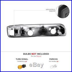 Smoke Halo Headlight Tail Lights Assembly LED Projector Fog 99-02 Silverado 2500