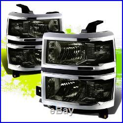 Smoke Headlamp Head Light Clear Turn Signal Mark For 14-15 Silverado Gmt K2xx