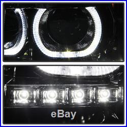 Smoked 2007-2013 Chevy Silverado 1500 2500HD SMD LED Halo Projector Headlights