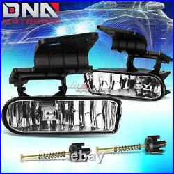 Smoked Headlight+clear Turn Signal+bumper+chrome Fog Light For 99-02 Silverado