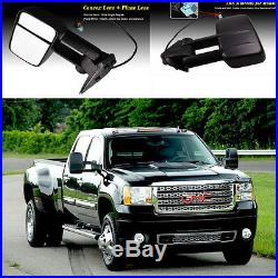 TOWING SIDE MIRRORS With TURN SIGNAL FOR 03-06 SILVERADO POWER/HEATED LH/RH CHROME
